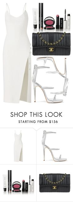 """white."" by inlovewith4idiots ❤ liked on Polyvore featuring David Koma, Giuseppe Zanotti, Bobbi Brown Cosmetics and Chanel #partyoutfits"
