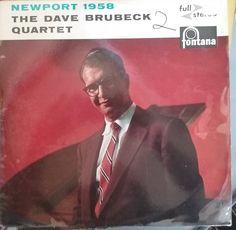 The Dave Brubeck Quartet, Newport 1958, Vintage Record Album, Vinyl LP, Classic American Jazz, Piano Jazz, Cool Jazz, Fontana Label by VintageCoolRecords on Etsy