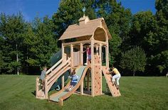 Backyard playset plans building outdoor playset plans design idea and decorations - Mommy Rachel - Re-Wilding Backyard Playset, Backyard Playground, Playground Ideas, Outdoor Play Spaces, Outdoor Toys, Childrens Outdoor Playsets, Outdoor Jungle Gym, Cedar Swing Sets, Diy Swing
