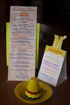 Mexican bridal shower menus