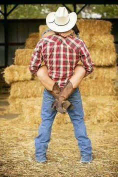 "If my man is a country boy, although it would be a cute pose without the ""country"" outfit :)"