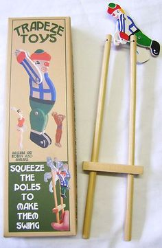 NEW RETRO WOODEN SWINGING ACROBATIC CIRCUS CLOWN TRAPEZE TRADITIONAL TOY HOM | eBay