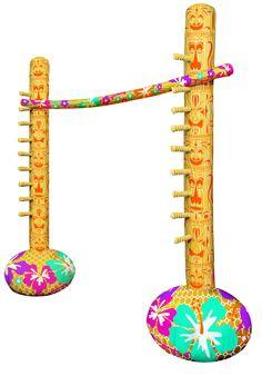 Gioco gonfiabile limbo: Questo accessorio gonfiabile serve per fare il gioco del limbo!Per installarlo bisognerà gonfiarlo.Le due basi hanno una lunghezza di 1.77 metri, il bastone invece di 1.82 metri.Colorato e...
