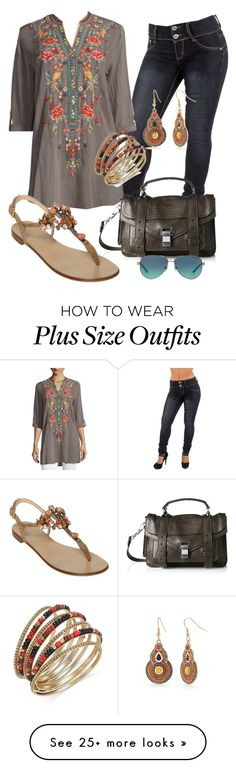 """""""Casual"""" by alice-fortuna on Polyvore featuring Johnny Was Collection, Proenza Schouler, Giuseppe Zanotti, Tiffany & Co., Red Camel and Thalia Sodi"""