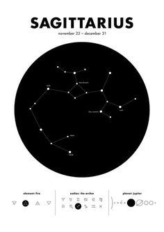 Sagittarius - Star Constellation Art Print by Moa Maria Design Studio - X-Small Sagittarius Constellation Tattoo, Sagittarius Tattoo Designs, Sagittarius Art, Constellation Tattoos, Zodiac Art, Zodiac Signs, Star Constellations, Star Tattoos, Tatoos