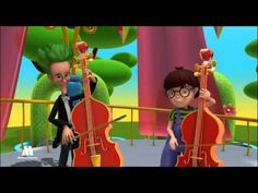 Stringed instruments, music for kids, educational video - YouTube