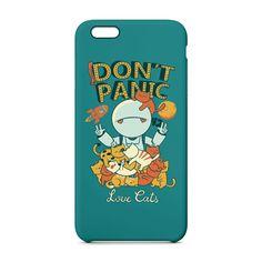 Capa de celular Don´t Panic Azul  - Cat Club
