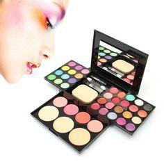 Eyeshadow Blusher Lip Gloss Powder Foundation Puff Make