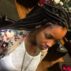 I think I'm going to get faux locs before I cut my hair. Either that or box braids.