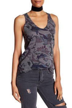 Image of Zadig & Voltaire Joss Printed Cashmere Tank
