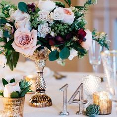 26 vintage wedding centerpieces that will take your wedding to a new level . 26 vintage wedding centerpieces that take your wedding to a new level. Vintage Wedding Centerpieces, Wedding Table Decorations, Wedding Table Centerpieces, Wedding Table Settings, Wedding Table Numbers, Wedding Vintage, Centerpiece Ideas, Centerpiece Flowers, Candlestick Centerpiece