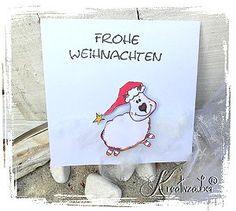 Weihnachtskarte mit Motivstempel von www.kreativzauber.de