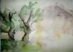 The Spring, Art by Sirkkaliisa Virtanen, watercolor