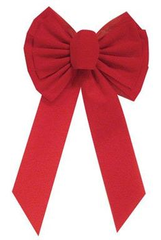 Holiday Trims 7358 Velvet Bow, Red, x x Christmas Tree Bows, Christmas Items, Xmas Ornaments, Xmas Tree, Velvet Color, Red Velvet, Cool Sweaters, Xmas Decorations, Ribbon Bows