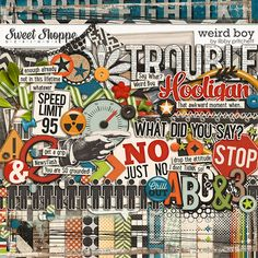 Digital Scrapbooking - Weird Boy by Libby Pritchett
