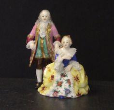 Fine Quality Rudolstadt Volkstedt 'Dresden Lace' Figurine Group | eBay