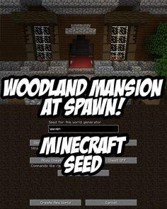 Woodland Mansion at Spawn. Seed:wwven (Minecraft 1.11+)