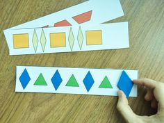 One of the hands-on patterning activities in my Grade 1 Patterning Unit for the Ontario Curriculum!