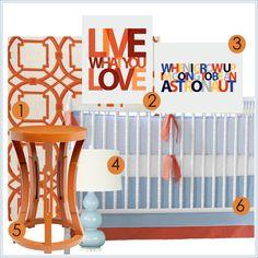 Annette Tatum Seersucker Sausalito Crib Set