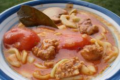 Italian sausage crockpot soup-- I made this on the stove top and I used cut up sweet Italian brats. This was great! Awesome flavor. Very hearty. Made 10-25-14