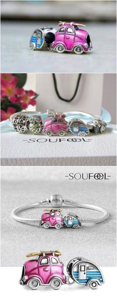 SOUFEEL Go on a Trip Charms Bracelet , each charm is a musical note comes from…