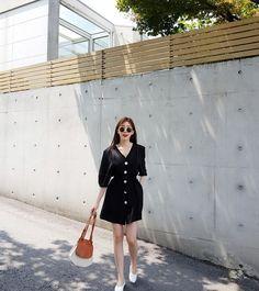 Large d2b16b8e 53de 44b3 a525 72493c63a6ff Korean Street Fashion, Korea Fashion, Fashion 2020, Zara Dresses, Fashion Dresses, Girls Dresses, Fila Outfit, Thailand Outfit, Korea Dress