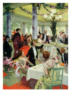 New Year's Eve in a Restaurant, Illustration from 'La Vie Heureuse' Magazine, 15th December 1912
