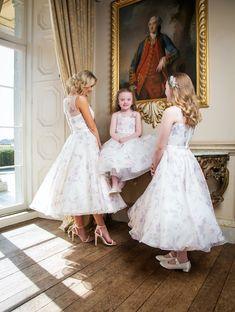 Award Winning Bridal Wear from Ireland – Bridal, Bridesmaid and Communion on Special Day… Tea Length Bridesmaid Dresses, Wedding Dresses, Brown Trim, Communion, Special Day, Event Planning, Awards, Flower Girl Dresses, Bridal