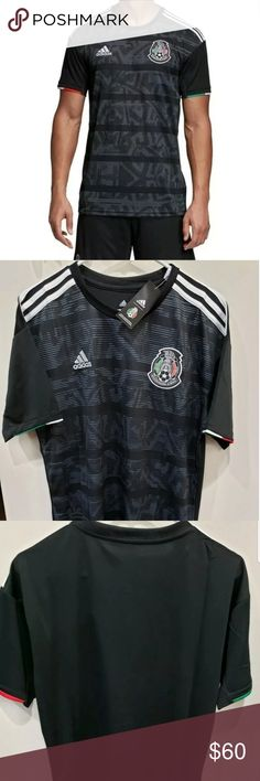 adidas Men's Mexico 2019 Stadium Home jersey Fit Lightweight, athletic-fit Raglan design for enhanced motion Style and Design Woven team crest on left chest adidas design on shoulders adidas logo on right chest adidas Other Black Adidas, Adidas Men, Mexico National Team, Adidas Soccer Jerseys, Mexico Soccer, Stripes Design, Adidas Logo, Fashion Tips, Fashion Design