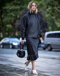 CONNECT THE DOTS: When the weather isnt quite one thing or another pair summery spots with oversized knits turning them into seasonless staples. Get the look at #NETAPORTER #THEEDIT via NET-A-PORTER MAGAZINE OFFICIAL INSTAGRAM - Celebrity  Fashion  Haute Couture  Advertising  Culture  Beauty  Editorial Photography  Magazine Covers  Supermodels  Runway Models