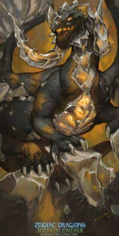 2017 Zodiac Dragons Calendar - Aries Dragon by The-SixthLeafClover on DeviantArt