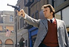 'Dirty Harry' Critics remain divided over the politics of Don Siegel's 1971 cop drama, but you can't argue with the enduring power of Clint Eastwood's Magnum-toting detective; he'd reprise the role in four sequels. Clint Eastwood Quotes, Actor Clint Eastwood, Scott Eastwood, Ray Charles, Best Action Movies, Good Movies, Martin Scorsese, Alfred Hitchcock, Stanley Kubrick