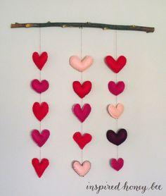 craft: heart dream catcher #inspiredhoneybee #DIY valentine's day