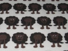Organic Interlock Lions brown Fabric for Kids