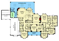 Mountain House Plans, Garage Interior, Luxury Flooring, Ceiling Treatments, Curved Staircase, Thing 1, Architectural Design House Plans, Architecture Design, Apartment Plans