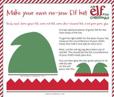 Make your own Elf for Christmas World Book Day costume! Christmas World, Christmas Elf, Elf Costume, Costume Ideas, World Book Day Costumes, Make Your Own, Make It Yourself, Elf Hat, An Elf