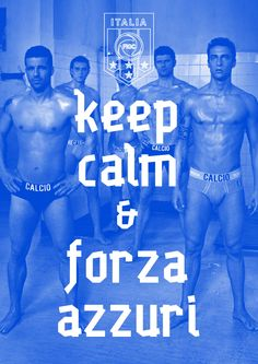 forza azzurri!!!  This one is better, even thought Azzurri is spelled wrong.