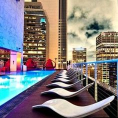 Outdoor Restaurants Los Angeles | The Standard, Downtown LA – Rooftop | Los Angeles Hotel Bars