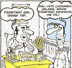 Pazartesi Sendromu -Komik karikaturler