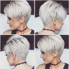 Pixie 360 per many requests! Cut by pixie queen Brandi at Henry's Salon, color by myself #shadowroot #megabits #whitepixiecut