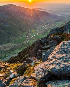 Sunset over Nant Ffrancon Pass in Snowdonia, North Wales Sunset over Nant Ffrancon Pass in Snowdonia, North Wales - UK United Kingdom Travel Destinations Honeymoon Backpack Backpacking Vacation Wales Uk, North Wales, Conway Castle, Wales Snowdonia, Anglesey, Costa Rica Pictures, Wales Holiday, Snowdonia National Park, Visit Wales