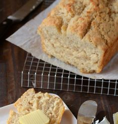This simple, buttery, beer bread recipe is a delicious way to make bread without yeast. It bakes up with a perfect buttery crust and soft, tender inside! Simple Beer Bread Recipe, Easy Bread Machine Recipes, Milk Bread Recipe, Recipes With Yeast, Artisan Bread Recipes, Easy Bread Recipes, Banana Bread Recipes, Pudding Recipe, Quick Bread