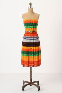 Love this striped dress from Anthro