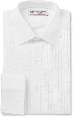 Turnbull & Asser White Sea Island Cotton Tuxedo Shirt sur shopstyle.fr
