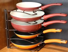 A versatile rack that will keep your pans organized instead of half-stacked in a disheveled mess.