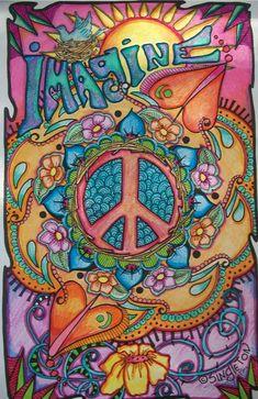 Resultado de imagen para hippie art