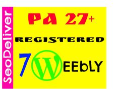 provide you 7 Expired PA28 plus Weebly Blogs by seodeliver