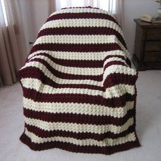 Herringbone stripe afghan patterns baby blankets and for Fave crafts knitting patterns