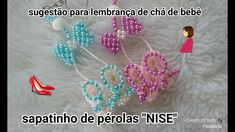 """👠SAPATINHO DE PÉROLAS""""NISE"""" Pearl Crafts, Beaded Crafts, Seed Bead Earrings, Clip On Earrings, Beaded Bags, Beaded Jewelry, How To Tie Gele, Brick Stitch Tutorial, Moldes Para Baby Shower"""