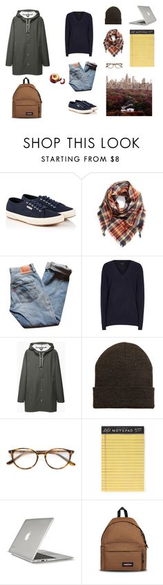 """""""DAY off style for this autumn"""" by ghei on Polyvore featuring mode, Superga, BP., Levi's, Reiss, Stutterheim, MANGO, Paul & Joe, Rifle Paper Co et Speck"""